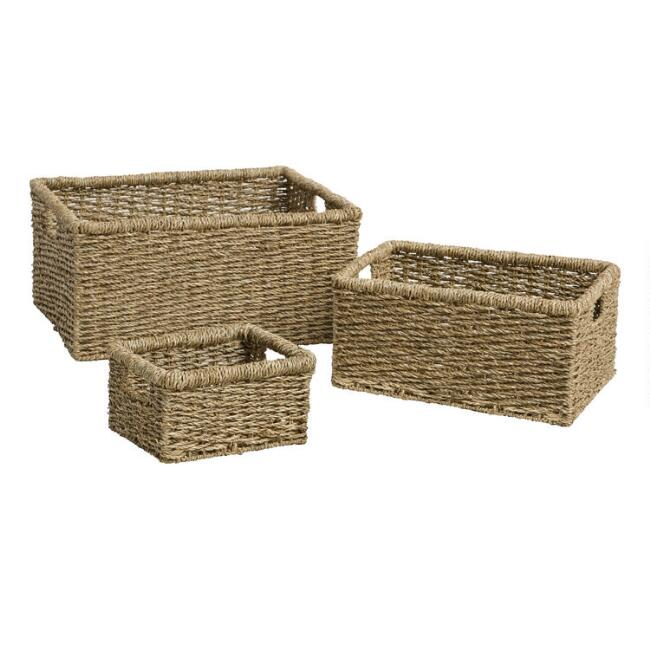 Natural Seagrass Trista Utility Basket