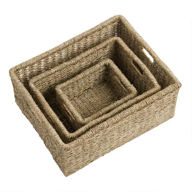 Natural Seagrass Trista Utility Baskets
