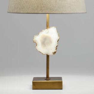 Lamp sets lamp shades lamp collection world market natural agate and brass accent lamp base greentooth Gallery