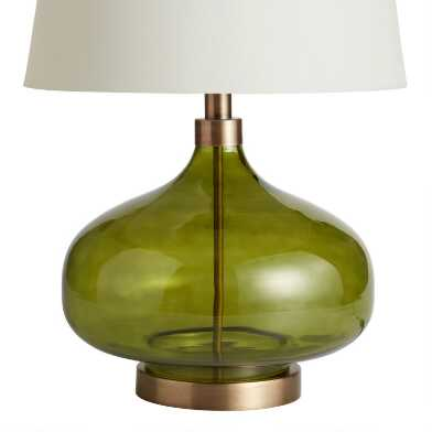 Green Glass Teardrop Halsey Table Lamp Base