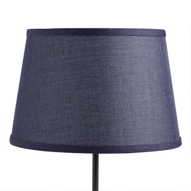Indigo Blue Linen Accent Lamp Shade