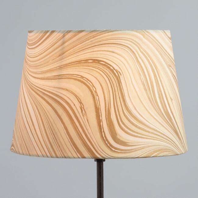 Marbled Gold Accent Lamp Shade