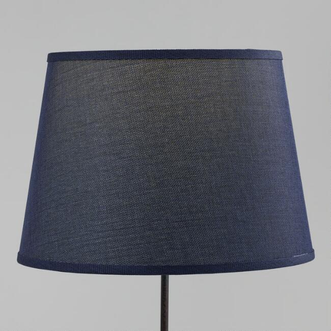 Indigo Blue Linen Table Lamp Shade