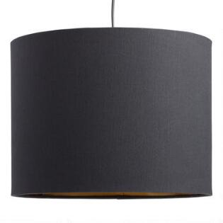 Lamp sets lamp shades lamp collection world market black linen drum table lamp shade aloadofball Image collections