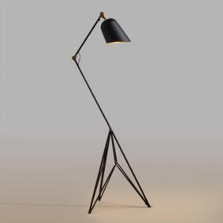 Floor lamps and tall task lamps world market matte black and gold tripod lewis task floor lamp mozeypictures Images