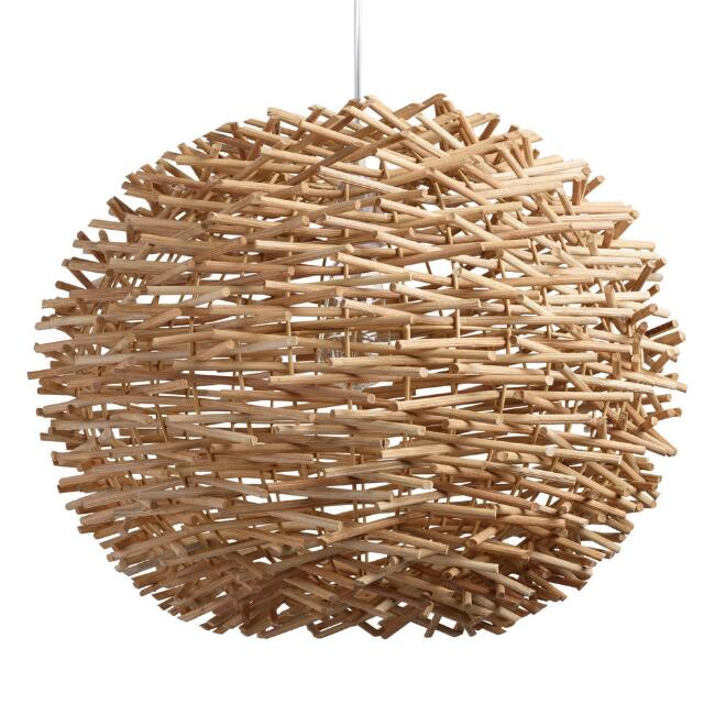 Wicker Nest Pendant Lamp