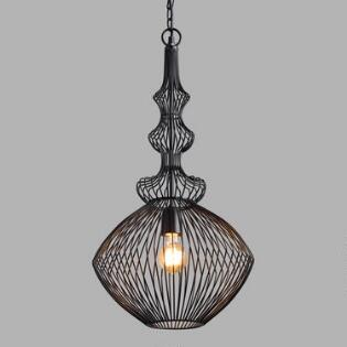 Pendant lighting light fixtures chandeliers world market black spun wire spindle lira pendant lamp aloadofball Gallery