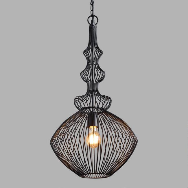 Unique Pendant Lighting Fixtures. Black Spun Wire Spindle Lira Pendant Shade Lighting  Light Fixtures Chandeliers World Market