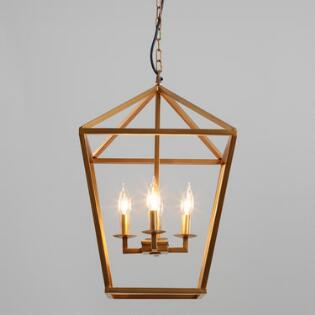 Angular Gold 4 Light Alexis Chandelier