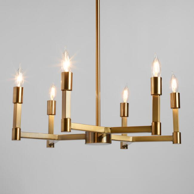Gold Torch 6 Light Elsa Chandelier