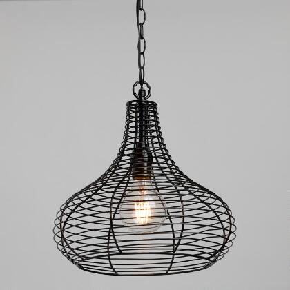 Black wire teardrop solar led outdoor pendant shade