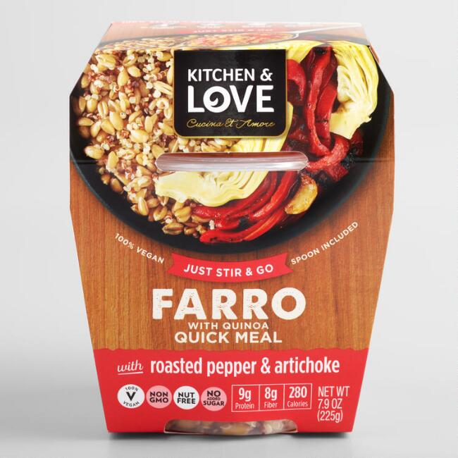 Kitchen & Love Pepper Artichoke and Farro Cup Set of 6