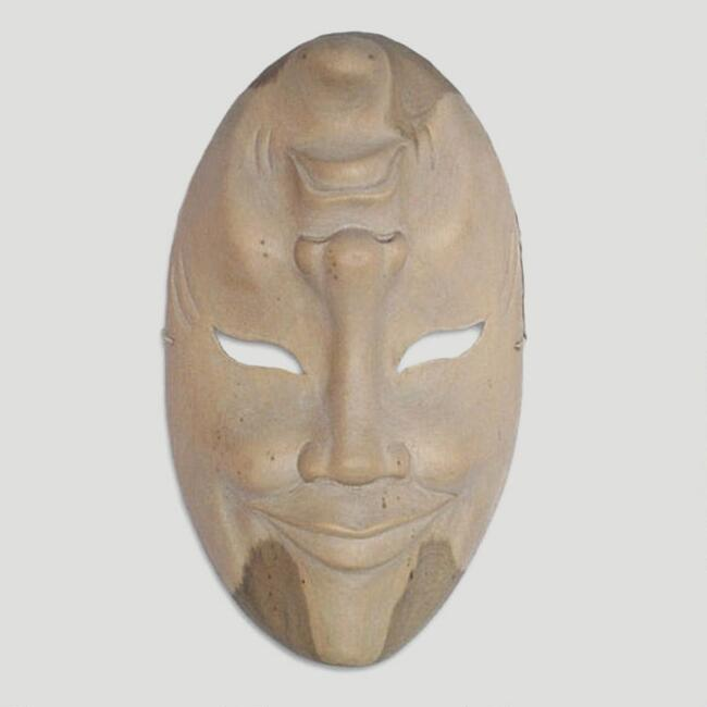 Novica 'Two Characters' Wood Mask