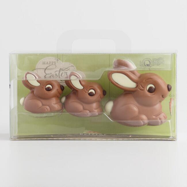 Belfine Chocolate Bunnies 3 Count