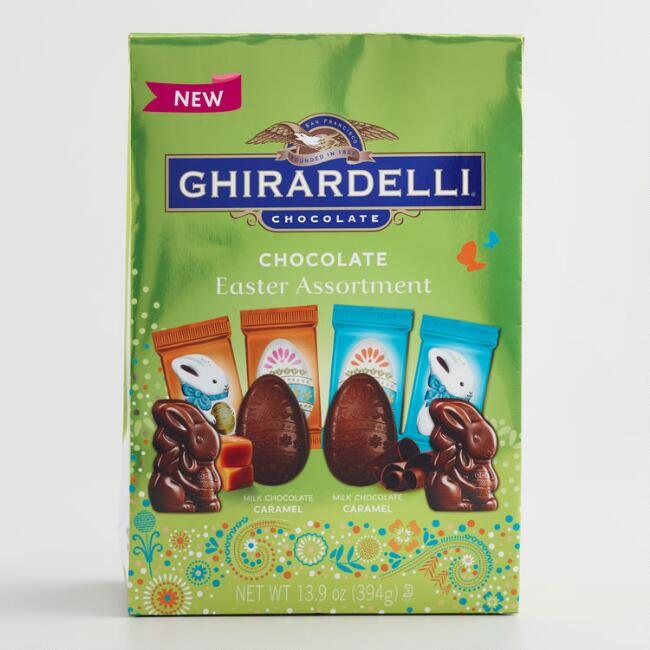 Ghirardelli Large Caramel Milk Chocolate Eggs and Bunnies