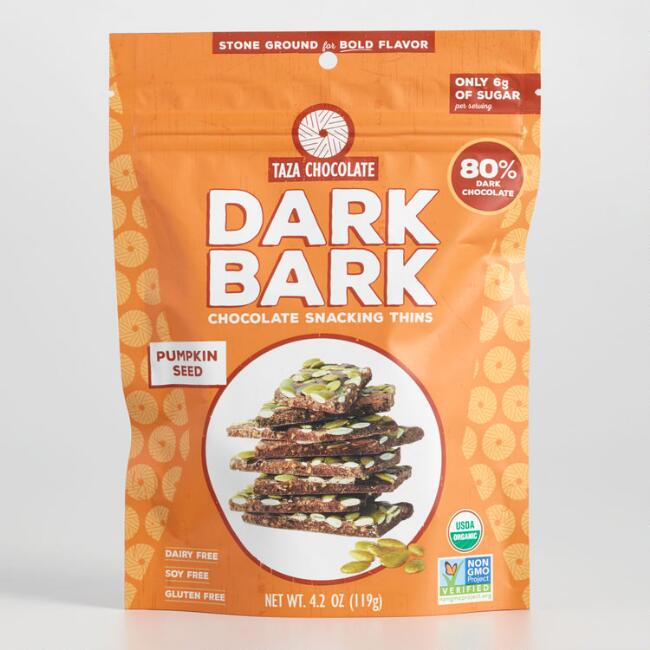 Taza Pumpkin Seed Quinoa Dark Chocolate Bark