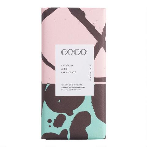Coco Chocolatier Lavender Milk Chocolate Bar
