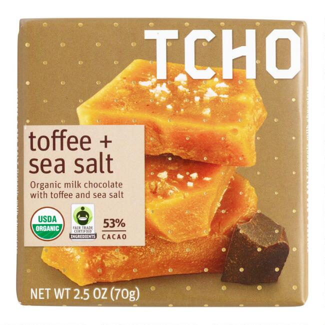 TCHO Toffee Sea Salt Milk Chocolate Bar
