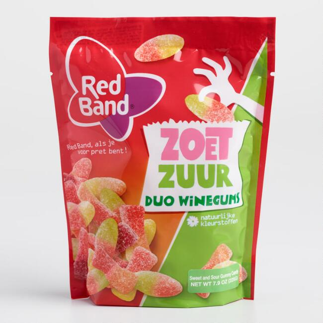 Red Band Sweet And Sour Wine Gum Candy