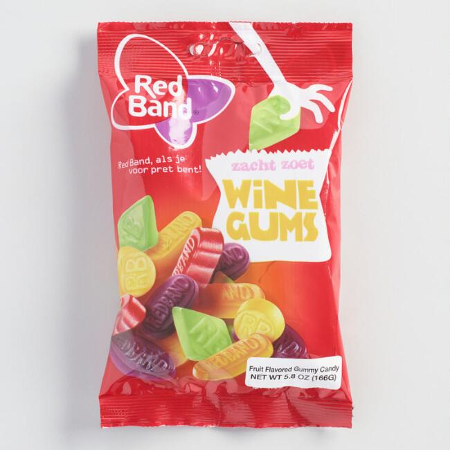 Red Band Wine Gum Candy