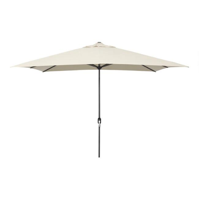 Natural Rectangular Outdoor Umbrella