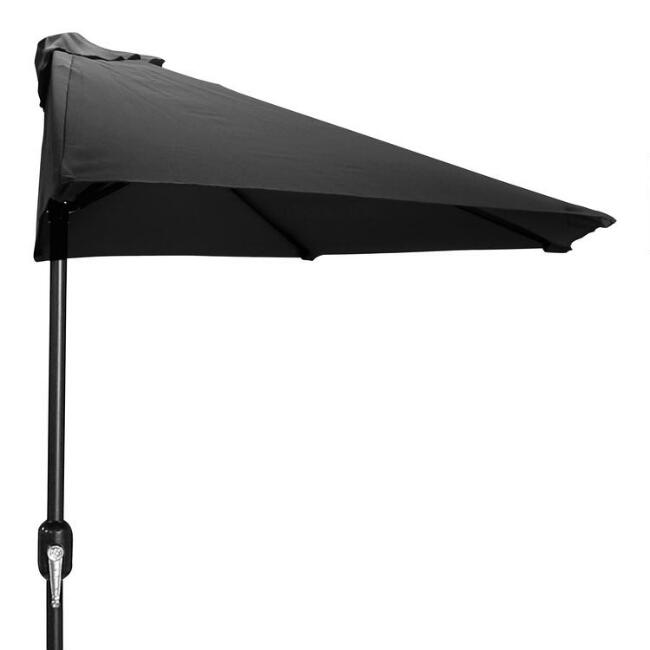 Black Outdoor Half Umbrella