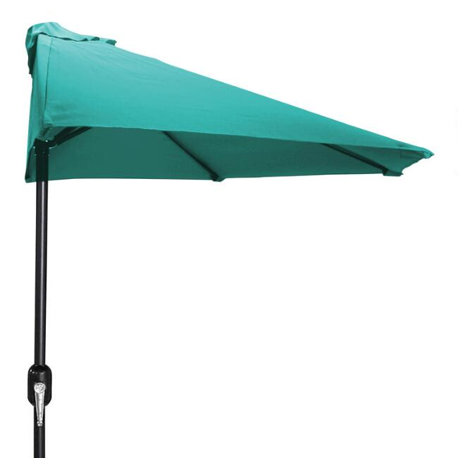 Aruba Turquoise Outdoor Half Umbrella