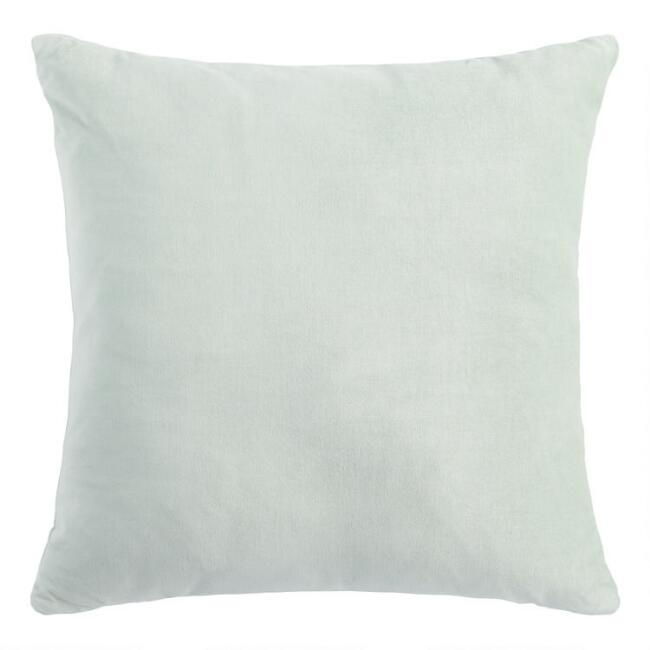 Jadeite Velvet Throw Pillow