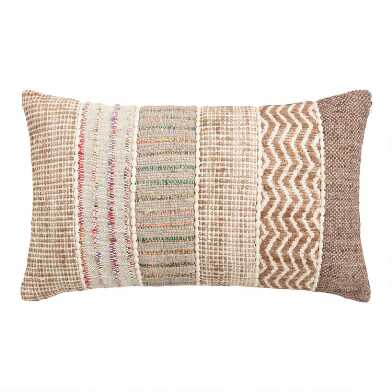Oversized Stripe Ghicha Lumbar Pillow