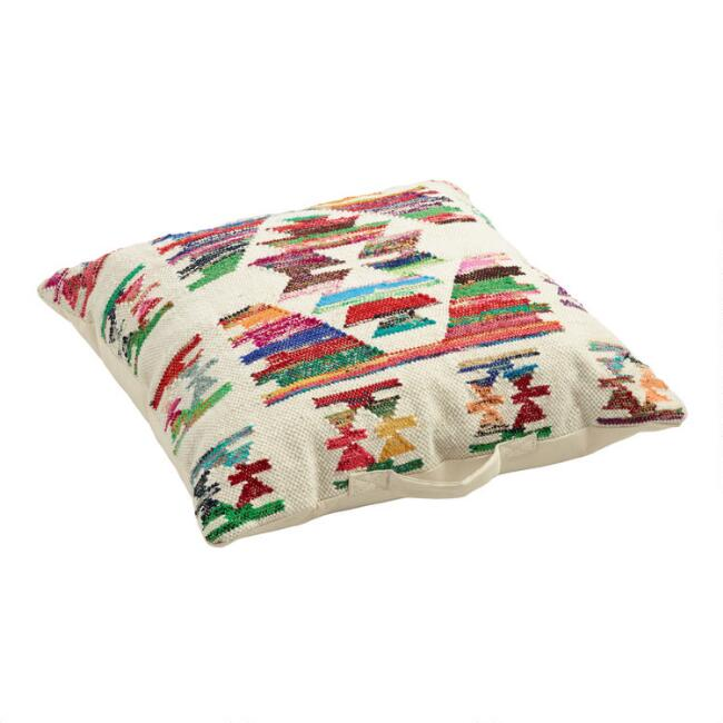 Multicolor Kilim Panja Floor Cushion
