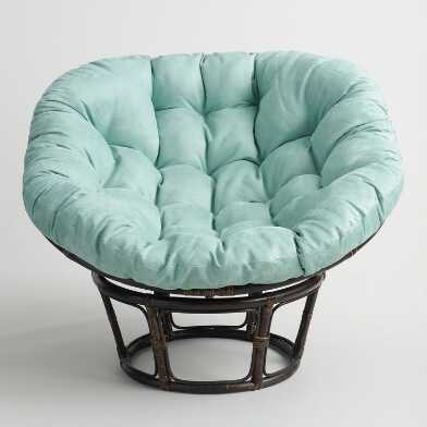Jadeite Microsuede Papasan Chair Cushion