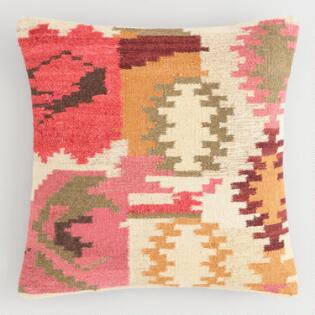 Warm Kilim Woven Throw Pillow