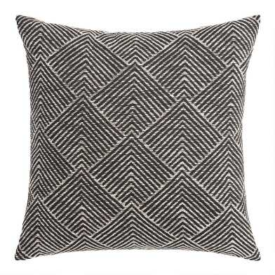 Geometric Angle Jacquard Throw Pillow