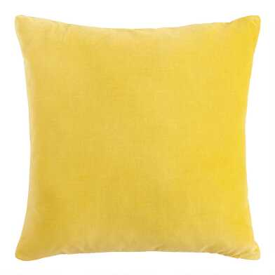 Chartreuse Velvet Throw Pillow