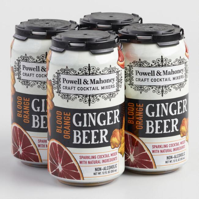 Powell and Mahoney Sparkling Blood Orange Ginger Beer 4 Pack
