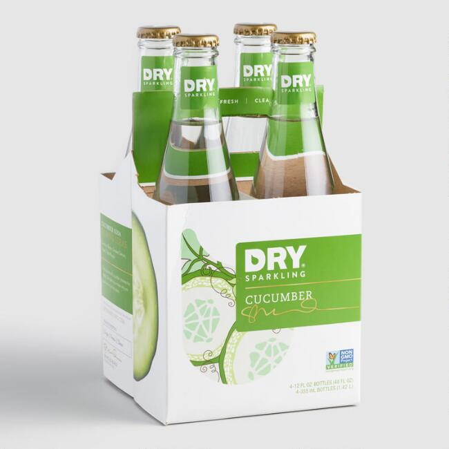 Dry Sparkling Cucumber Soda 4 Pack