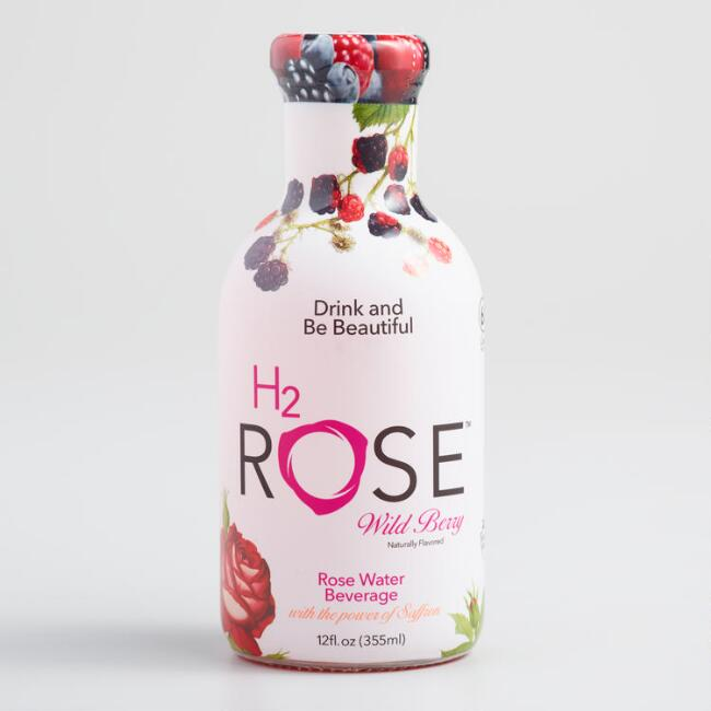 H2rOse Wild Berry Rose Water Beverage Set of 12