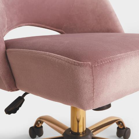 Prime Mauve Velvet Cosmo Upholstered Office Chair Theyellowbook Wood Chair Design Ideas Theyellowbookinfo