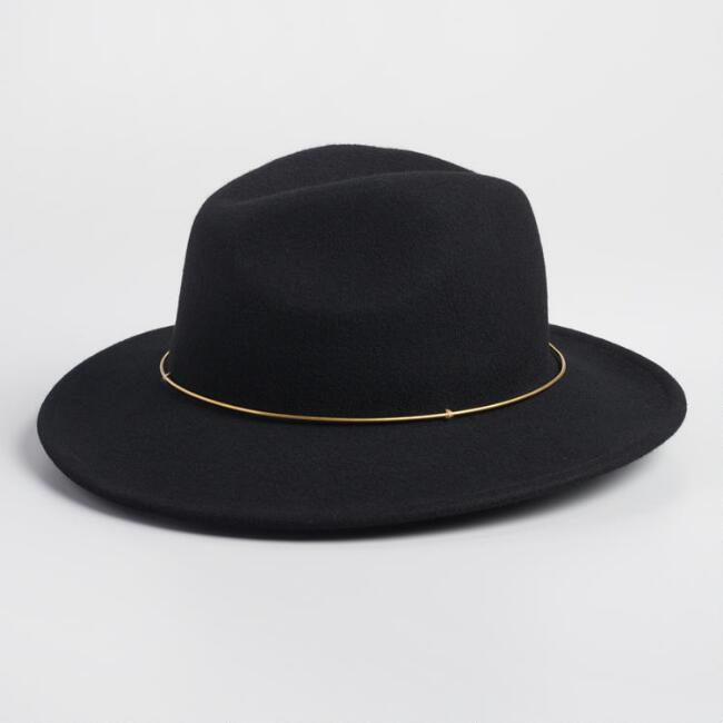 Black Wool and Gold Rancher Hat