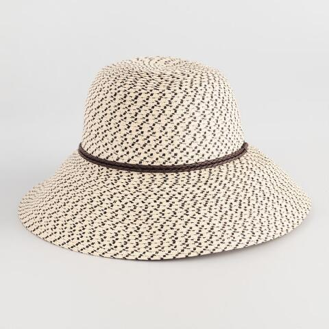 36109b280d6 Natural and Black Woven Bucket Hat