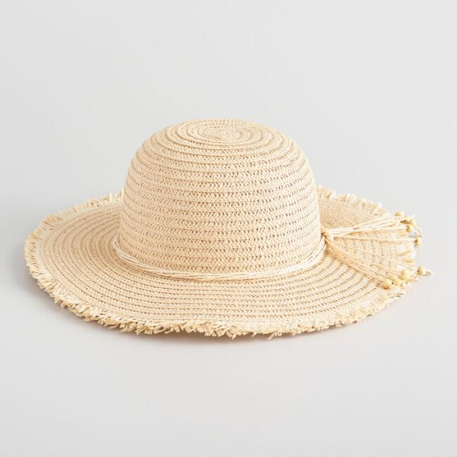 Natural Open Weave Straw Sunhat