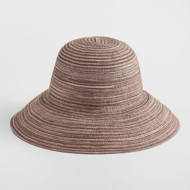 Brown and Natural Marled Bucket Hat