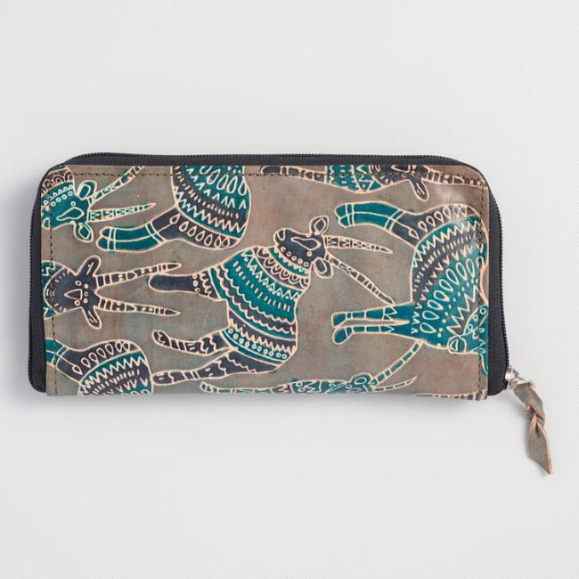 Bahati Print Leather Wallet