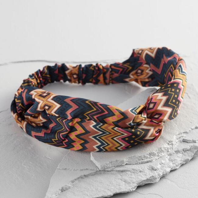 Multicolored Chevron Turban Headband