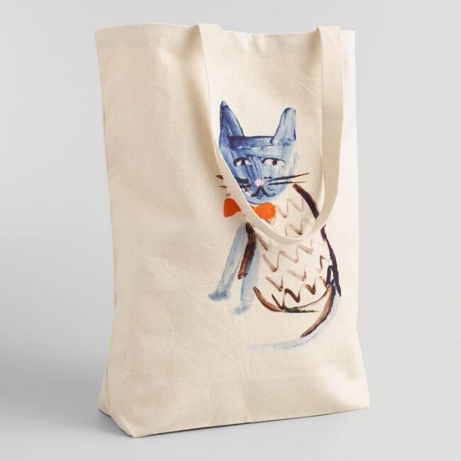 Kitty Canvas Tote Bag