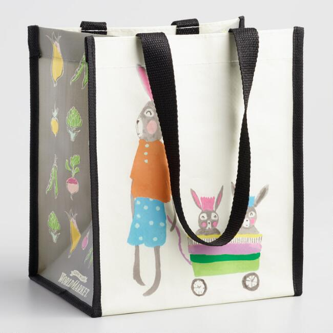 Small Bunny Family Tote Bags Set of 2