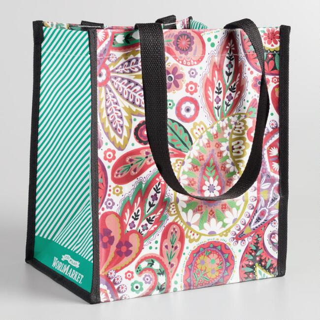 Small Paisley Tote Bags Set of 2