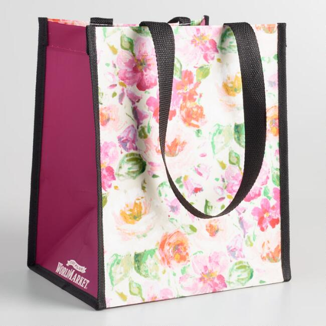 Small Floral Tote Bags Set of 2