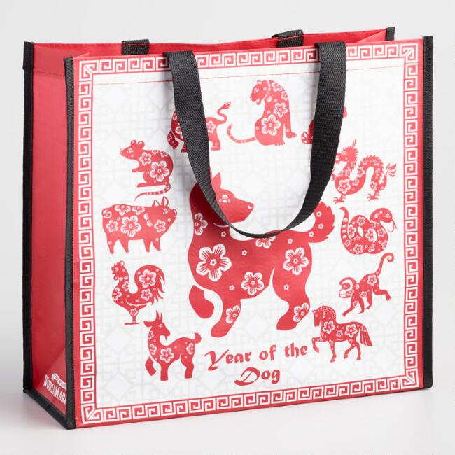 Large Red Lunar New Year Tote Bag