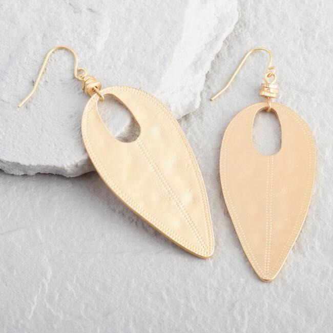 Silver Bead and Gold Disk Drop Earrings
